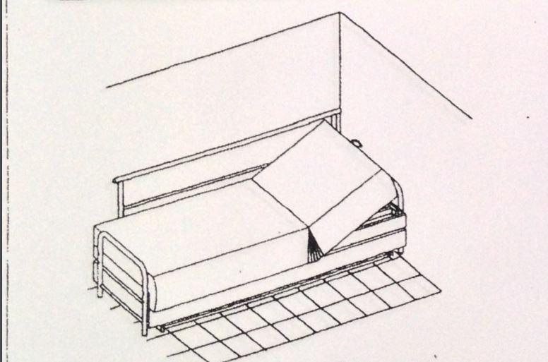 מנגנון הממוקם בצד השמאלי של ראש המיטה.